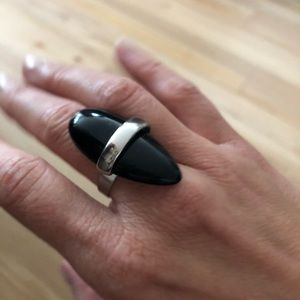 Onyx statement ring